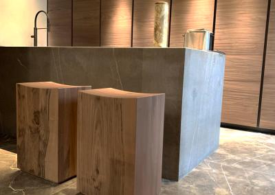 Масивни мебели по поръчка за наш клиент
